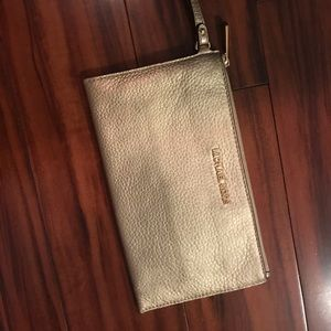 Michael Kors pebbled leather Bedford zip clutch